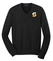 Picture of CHOICE MARK BLACK V-NECK SWEATER